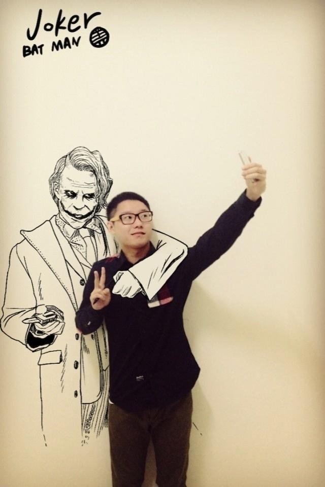 O Coringa é um dos personagens ilustrados por Gaikuo Captain, estudante chinês da Universidade de Pequim