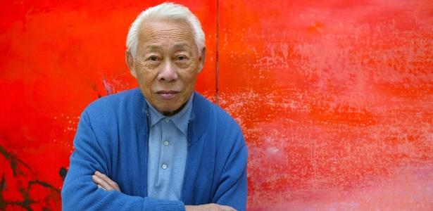 Obras de Zao Wou-ki são inspiradas em artistas como Paul Klee, Alberto Giacometti e Joan Miró - FRANCOIS GUILLOT/AFP