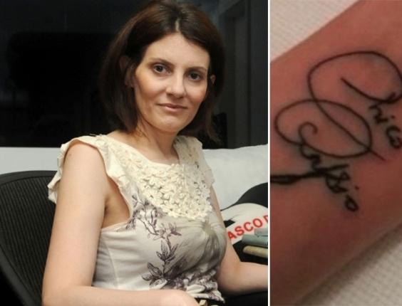 Malga di Paula, viúva de Chico Anysio, tatua o punho em homenagem ao humorista