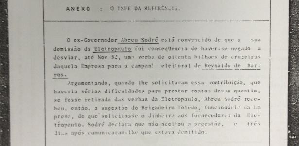 Segunda ficha de acusação de Abreu Sodré contra Marin