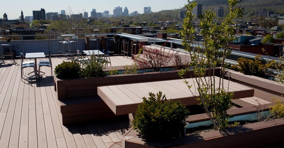"""Vista de uma das """"áreas de descompressão"""" da Ubisoft Montreal, que concentra franquias como """"Assassin's Creed"""" e """"Far Cry"""""""