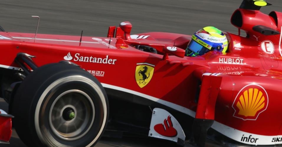 12.abr.2013 - Felipe Massa foi o mais rápido do dia nos treinos livres para o GP da China