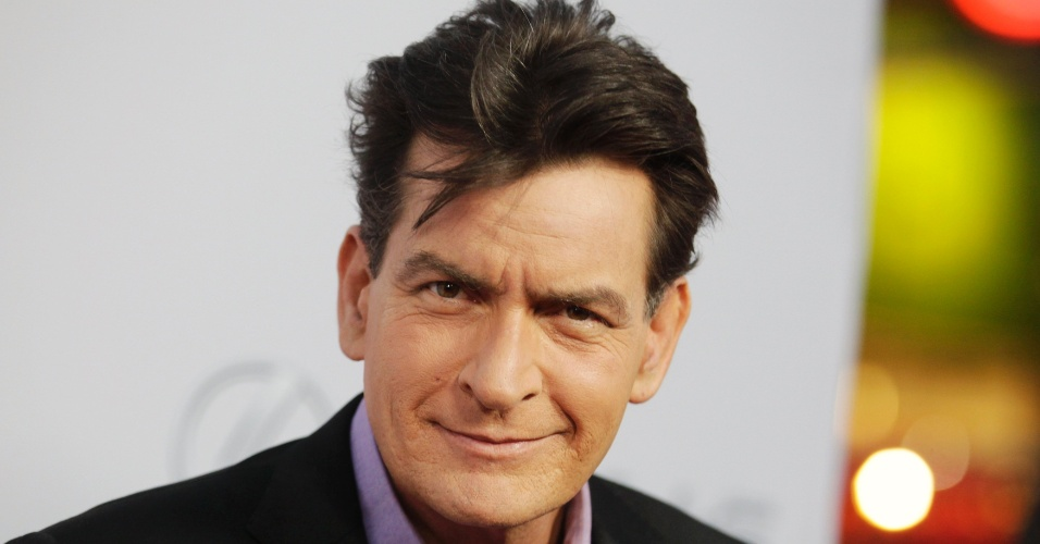12.abr.2013 - O comediante Charlie Sheen durante a pré-estreia da comédia