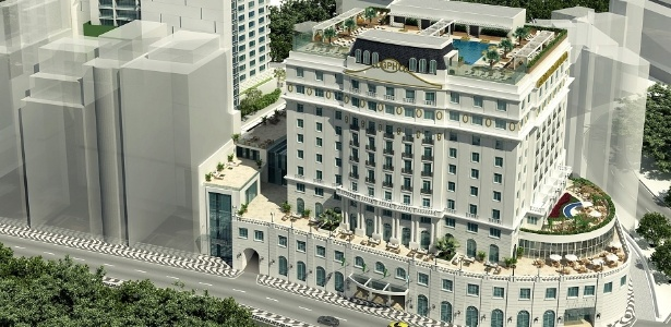 Maquete mostra Hotel Glória, cuja obra é financiada pelo BNDES e será concluída em 2015