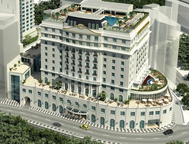 Projeto do Gloria Palace Hotel, revitalização promovida no hotel por Eike Batista
