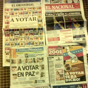 Jornais venezuelanos - Thiago Varella/UOL
