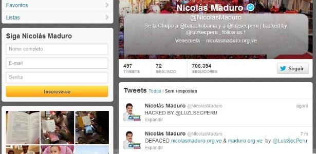 Conta oficial de Nicolás Maduro no Twitter é invadida - Reprodução