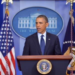 O presidente Barack Obama durante pronunciamento sobre os atentados de Boston, na segunda-feira (15) - 15.abr.2013 - Mandel Ngan/AFP