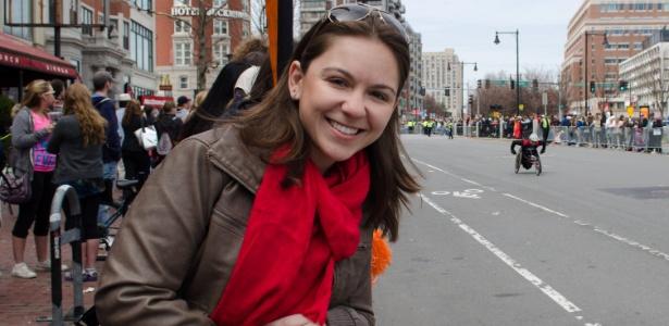 A gaúcha Mariana Mendoza, que mora há 9 meses nos EUA, disse que, após as explosões em Boston, não sabia para onde era seguro ir - Arquivo pessoal
