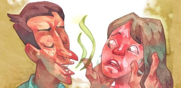 Evite dar indiretas se seu parceiro ou parceira tem mau hálito; aborde o problema com objetividade