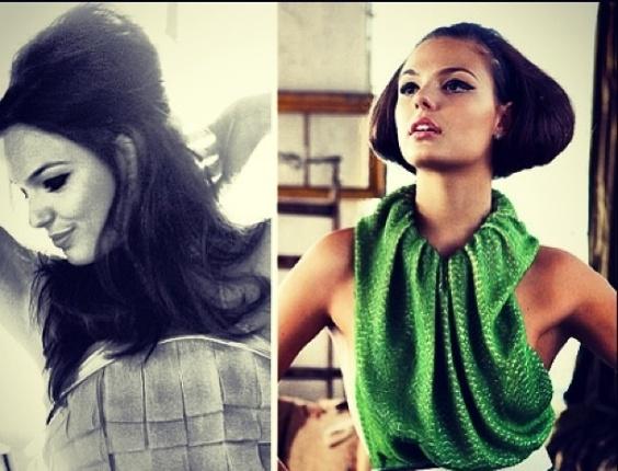 Isis Valverde mostra que gosta mesmo de mudar de estilo ao fotografar.  A atriz colocou imagens de um recente trabalho com visuais bem diferentes.