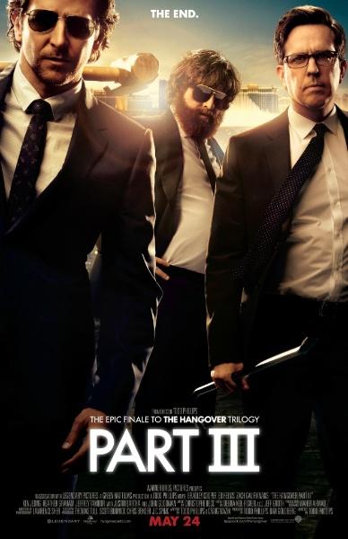 """Pôster de """"Se Beber, Não Case! Parte III"""" mostra Phil (Bradley Cooper), Alan (Zach Galifianakis) e Stu (Ed Helms)"""