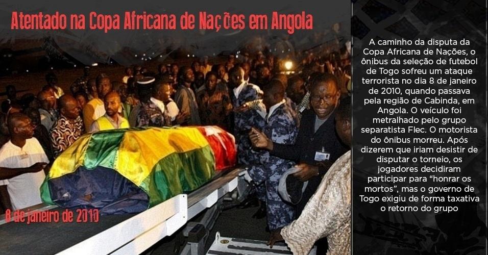 Corpo de uma das vítimas de atentado à seleção togolesa chega em Lomé