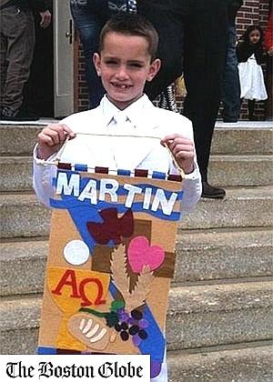 O garoto Martin Richard, de oito anos, uma das três vítimas das explosões ocorridas na Maratona de Boston, nos Estados Unidos