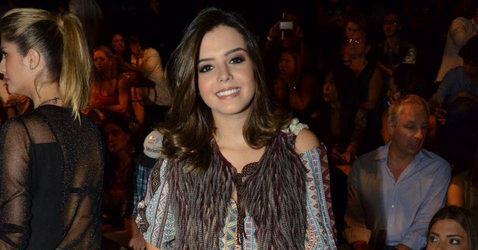 16.abr.2013 - Giovanna Lancellotti no Fashion Rio, na Marina da Glória, Rio de Janeiro
