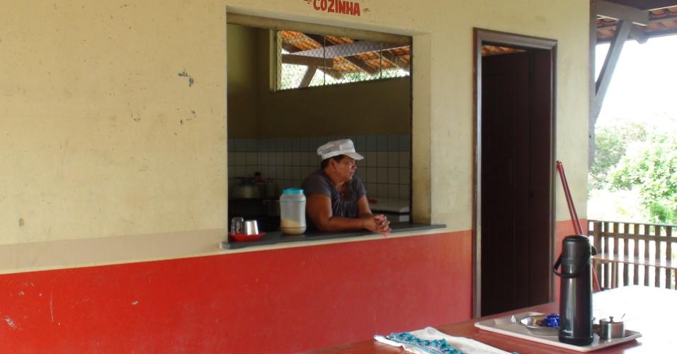 A escola municipal de ensino fundamental Nossa Senhora de Nazaré, na comunidade de Arapixuna, fica a cerca de duas horas de barco de Santarém (PA)