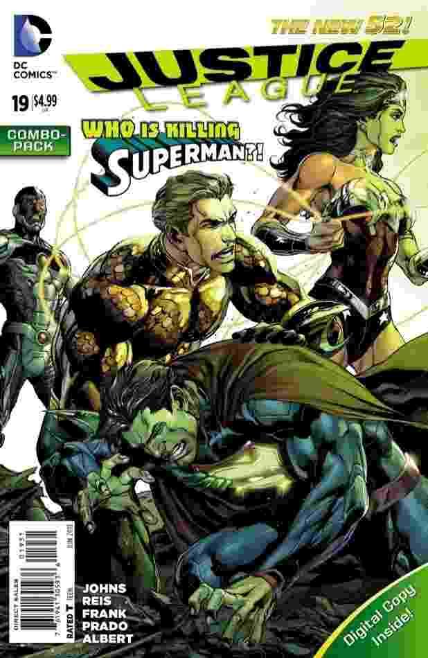 """Capa de """"Liga da Justiça # 19"""" esconde o herói que quer matar o Super Homem - Divulgação/DC Comics"""