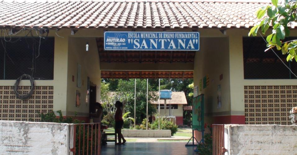 Escola rural em Santarém na comunidade de Arapixuna