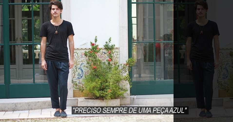 16 abr. 2013 - Patrick Doering, 23, publicitário, veste camiseta e calça Zara, sapato Breute e joias da família usadas como pingentes