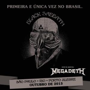 Pôster mostra mês em que o Black Sabbath virá ao país - Reprodução/TimeforFun