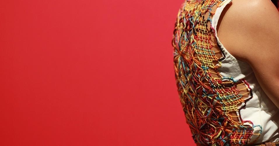17 abr. 2013 - O vestido de Fernanda tem detalhe rendado nas costas