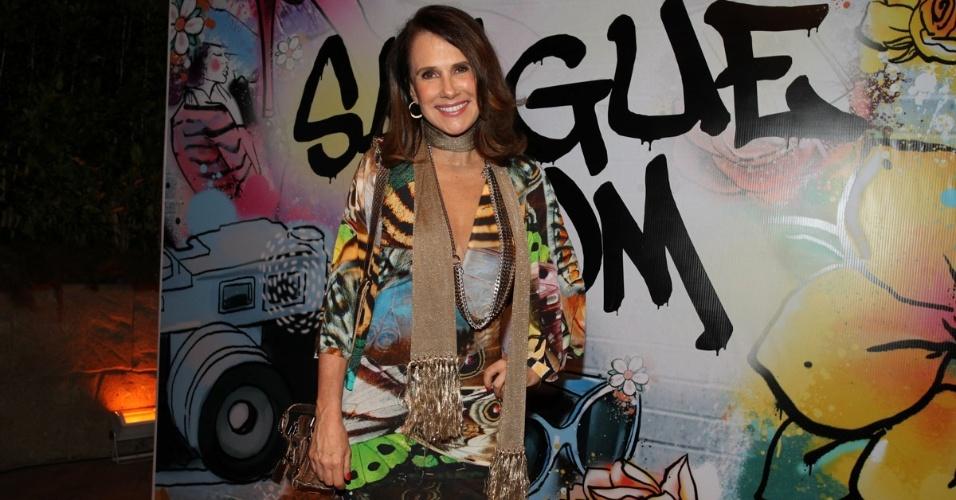 """17.abr.2013 - Xuxa Lopes na festa de lançamento de """"Sangue Bom"""" em São Paulo"""
