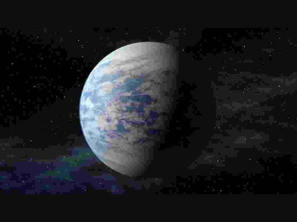 18.abr.2013 - O Kepler-69c (em concepção artística na imagem) é tido como um super-Vênus, a 2.700 anos-luz da Terra, é 70% maior do que nosso planeta e está na zona habitável de seu sistema planetário, com órbita de 242 dias, o que o coloca na região que fica Vênus em nosso Sistema Solar - Nasa Ames/JPL-Caltech