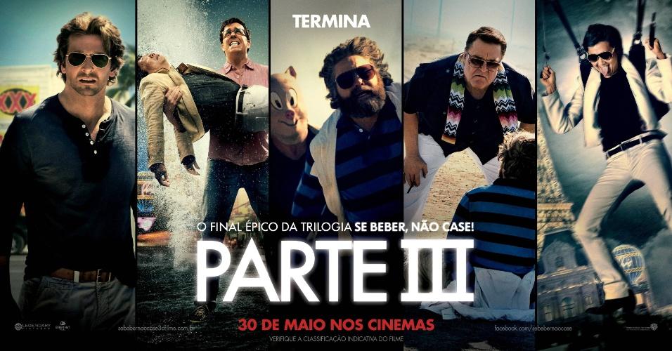 """Arte do filme """"Se Beber, Não Case! Parte III"""" divulgada pela Warner Bros. Pictures"""