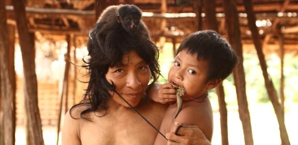 Takwarimerua Awa, indígena do povo Awa-Guajá, na terra indígena Caru, no Maranhão - Eliza Capai/Greenpeace