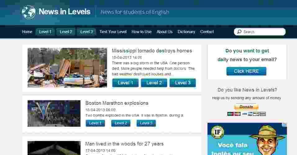 News in levels - Reprodução