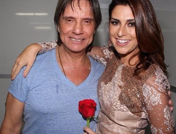 19.abr.2013 - Fernanda Paes Leme publica foto ao lado de Roberto Carlos