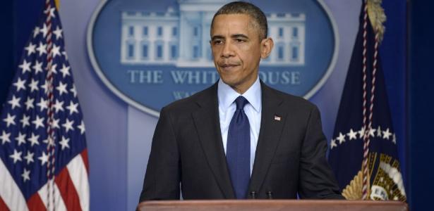 Barack Obama fez pronunciamento na noite desta sexta (19) após prisão de suspeito em Boston - Brendan Smialowski/AFP