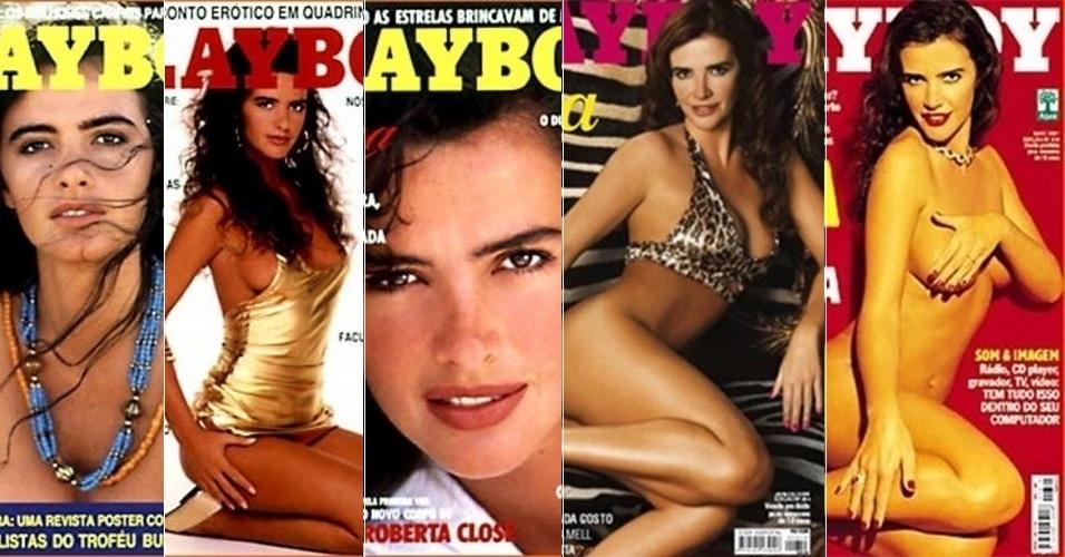 Luma de Oliveira foi cinco vezes capa da revista Playboy