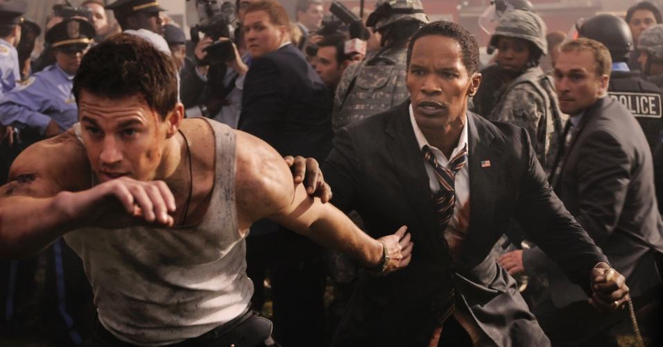 """O ator James Woods interpreta um agente do serviço secreto em """"Ataque à Casa Branca"""". Com direção de Roland Emmerich e roteiro de James Vanderbilt, o filme traz ainda no elenco Channing Tatum, Jamie Foxx e Maggie Gyllenhaal."""