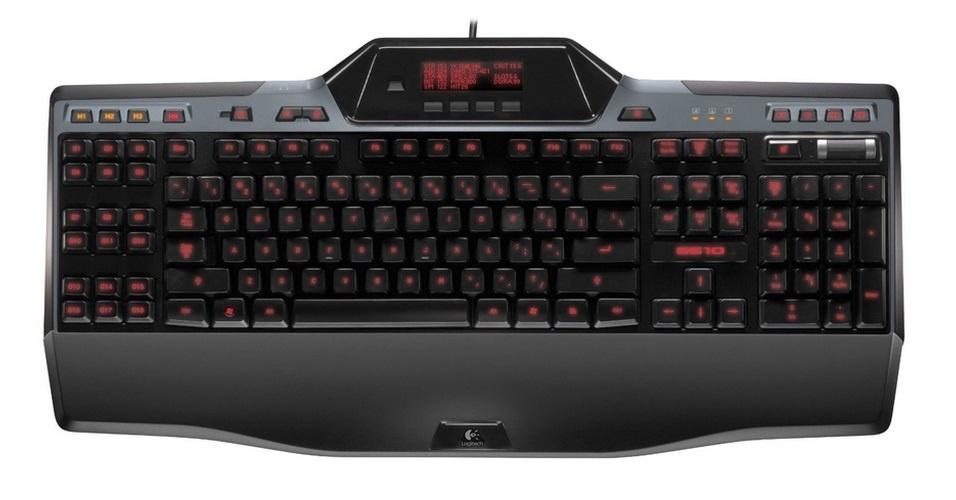 O Logitech Gaming Keyboard G510 é um teclado com painel LCD que exibe informações do game que o usuário está jogando. Por US$ 90 (cerca de R$ 180) na loja Amazon