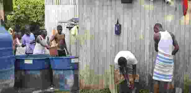 Vivendo em condições precárias, imigrantes haitianos aguardam visto provisório em Brasilieia no estado do Acre - Marcello Casal Jr./ABr