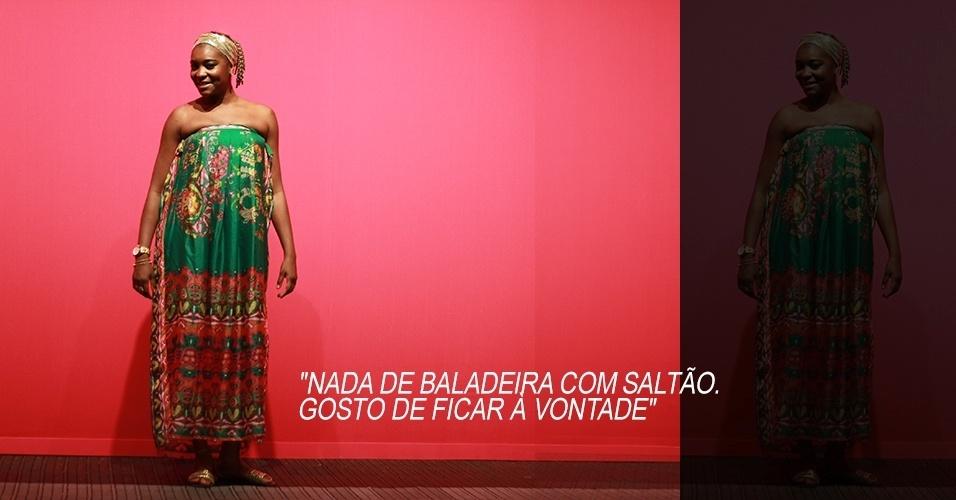 19 abr. 2013 - Vivianne Moreli, 28, servidora pública, usa vestido X-site e sandália Sonho dos Pés. O turbante foi comprado há muito tempo em uma loja de acessórios
