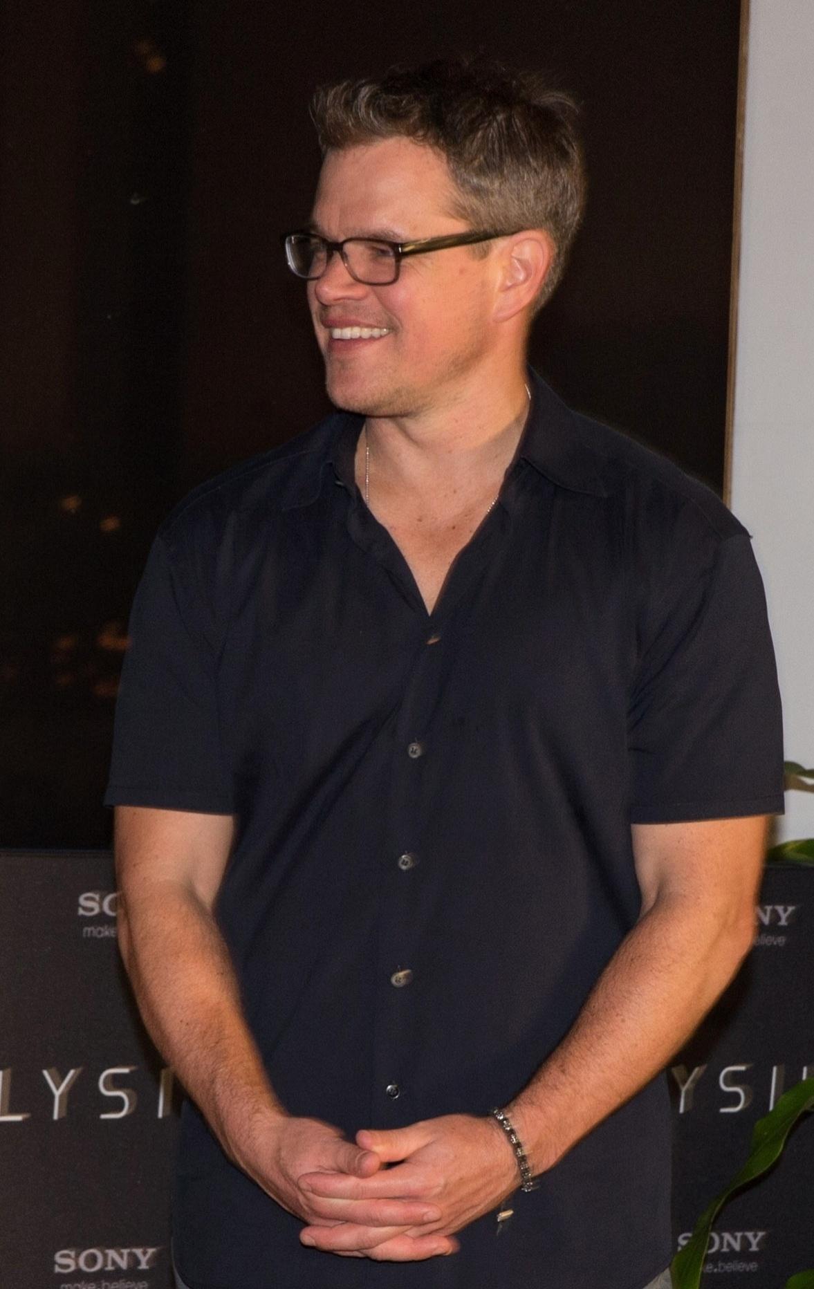 20.abr.2013 - O ator Matt Damon em evento promocional do filme