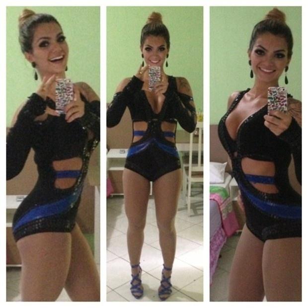 21.abr.2013 - Kelly Key publica foto com figurino para show em Sergipe