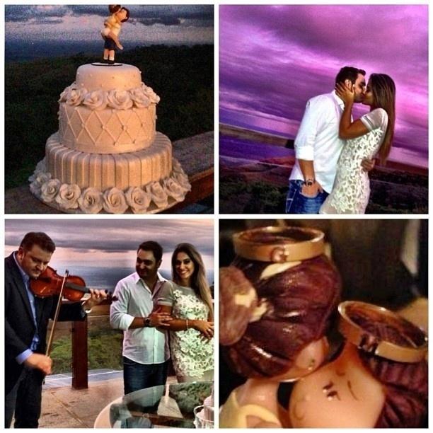 21.abr.2013 - A ex-BBB Mayra Cardi publica foto mostrando pedido de casamento feito pelo noivo