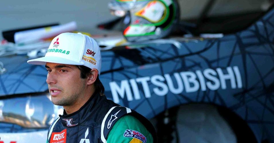 Nelsinho Piquet participou pela primeira vez de uma etapa do mundial de rallycross