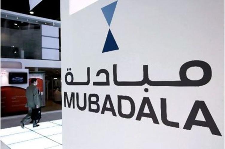 Logotipo da Mubadala, empresa dos Emirados Árabes