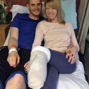 A dançarina Adrianne Haslet teve o pé esquerdo amputado após o atentado de Boston - Arquivo pessoal