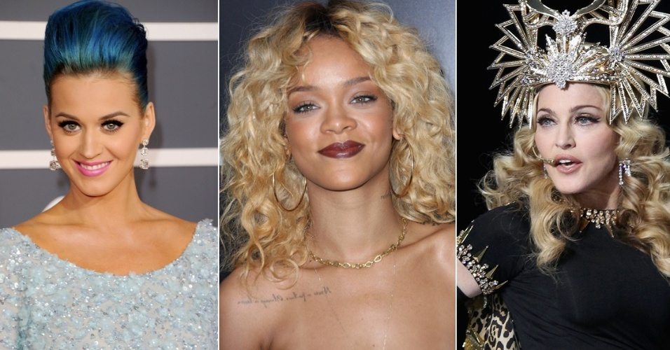 Katy Perry, Rihanna e Madonna