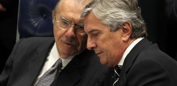 Sarney participa, ao lado de Fernando Collor de Mello, de sessão do Senado - Roberto Jayme 1º.fev.2013/UOL