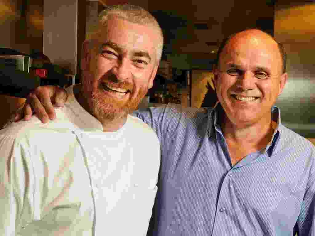 Alex Atala e Francisco Ruzene, dono da empresa Arroz Preto Ruzene - Divulgação