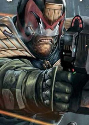 Capa da edição nacional da revista Juiz Dredd Megazine  - Reprodução