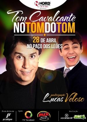 Cartaz do show de Tom Cavalcante com o filho de Shaolin - Divulgação