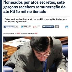 """Matéria do """"O Globo"""" denuncia supersalário"""