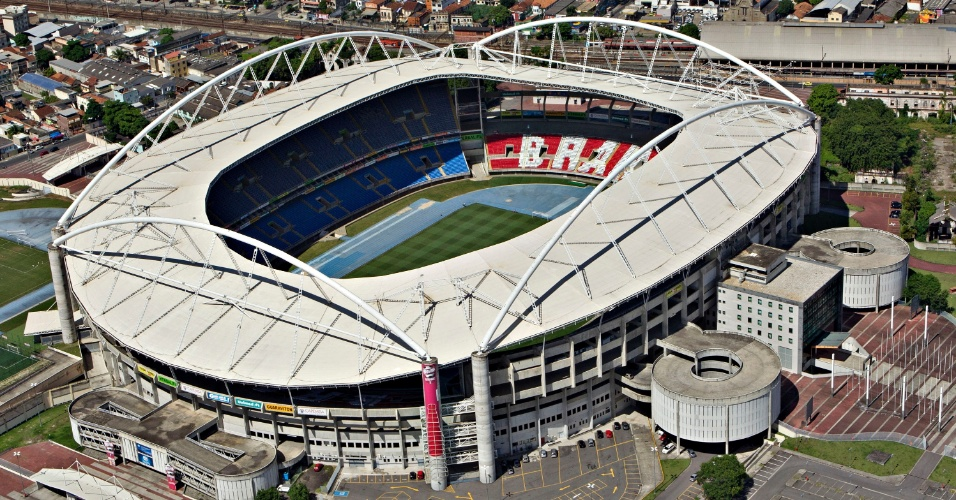 O Estádio Olímpico João Havelange, o Engenhão, visto de cima